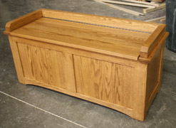 Beautiful Mission Storage Bench