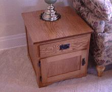 Mission Style Cabinet End Table